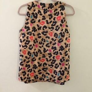 kate spade Tops - KATE SPADE Celeste colorful Leopard print blouse
